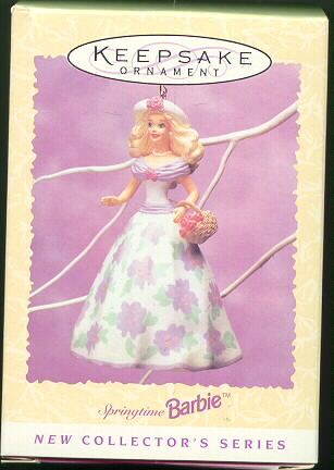 Barbie Springtime #1 1995 Hallmark Keepsake Ornament