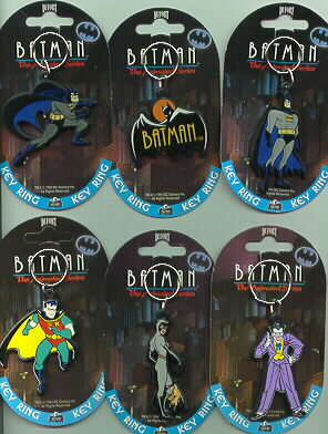 Batman Set of 6 Batman key chains European Rare