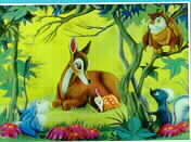 Disney  Bambi with animals 3d Print W.D.P. Germany
