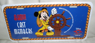 Disney  Cruise Line CM Mickey Helm License Plate