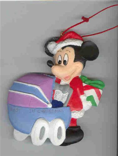 Disney  Mickey with baby carriage Ornament