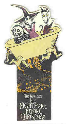 Disney  Nightmare Be4 Christmas LSB in tub Bookmark