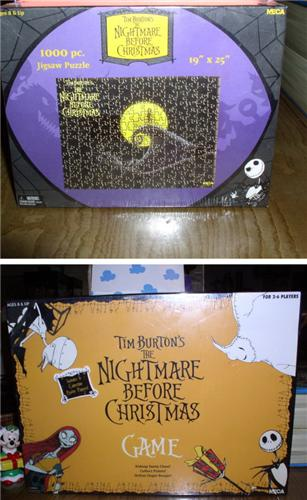 Disney  Nightmare Before Board Game & Puzzle 2 items