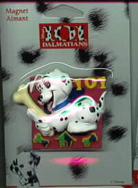 Disney 101 Dalmatians  puppy with dog bone Magnet Aimant MOC