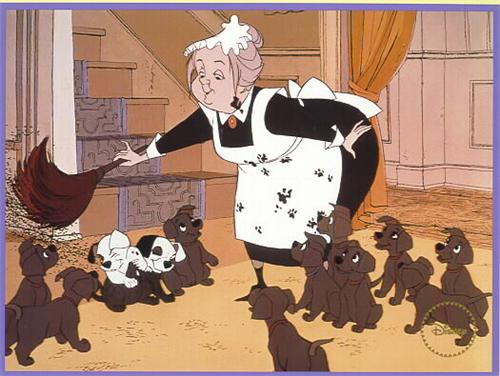 Disney 101 Dalmatians gold Seal Lithograph