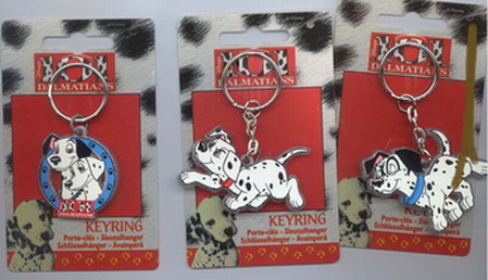 Disney 101 Dalmatians Rare Set of 3 Key Chains