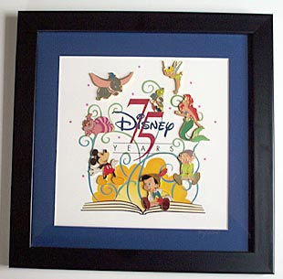 Disney 75 Years of Love and Laughter Framed 8 Pin/Pins