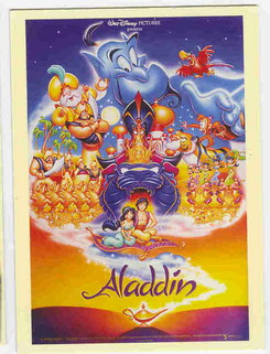 Disney Aladdin & Jasmine with full Cast Poster