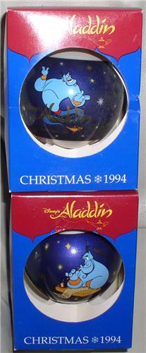 Disney Aladdin the Genie 1994 Glass Ornament