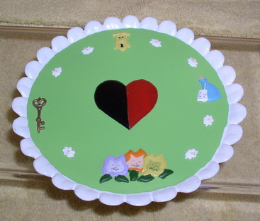 Disney Alice In Wonderland miniature tray Rare