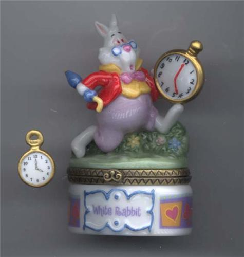 Disney Alice In Wonderland White Rabbit  Figurines PHB