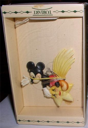 Disney Anri Mickey Mouse Star  Figurine made of wood