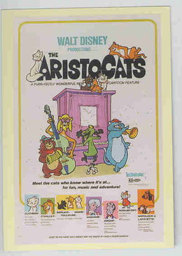 Disney Aristocats Musical Cats Poster trading card