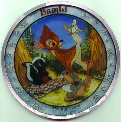 Disney Bambi Rare Stained Glass