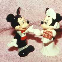 Disney Bride & Groom Rare - Salt & Pepper