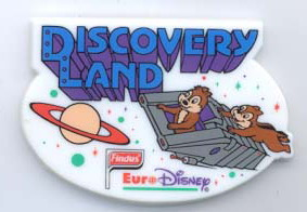 Disney Chip & Dale Discovery Land  Euro Disney Magnet