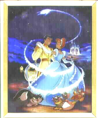Disney Cinderella Rare Stained Glass