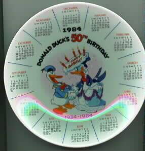 Disney Donald Duck 50th Birthday Plate