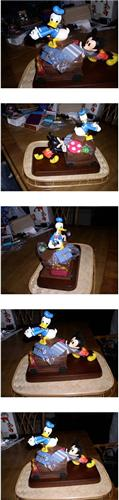 Disney Donald Duck and Mickey Mouse  Figurine
