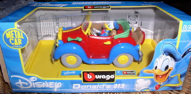 Disney Donald Duck convertible Die Cast Metal Italy car