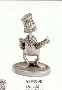 Disney Donald Duck Hitch Hiking Pewter