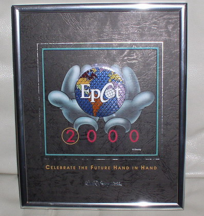 Disney Epcot Framed Rare Pin Set Pin/Pins cheap!!