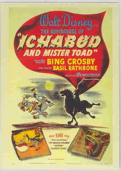 Disney Ichabod and Mister Toad Bing Crosby poster