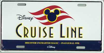 Disney Inaugural Cruise Line  License Plate