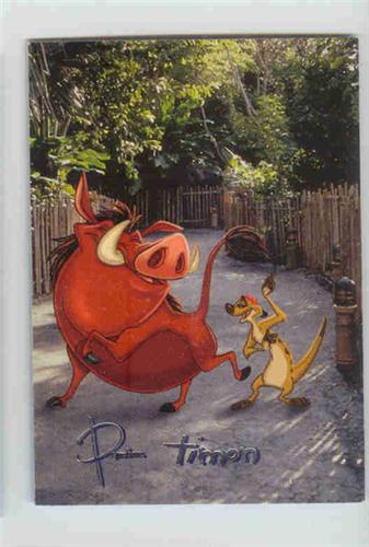 Disney Lion King Pumba the Pig & Timon with signature