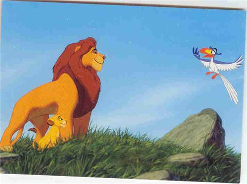 Disney Lion King Simba Mufasa and Zazu