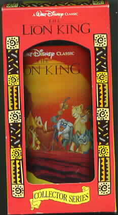 Disney Lion King Simba Nala Rafiki monkey Hyena Glass