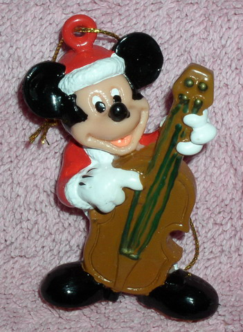 Disney Mickey  Plays Base Musical Instrument Ornament