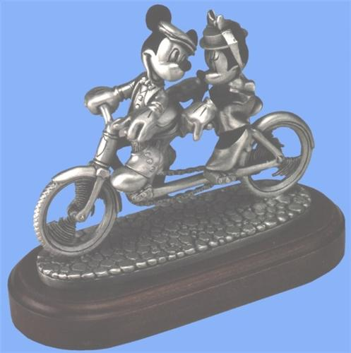 Disney Mickey & Mouse Bike for Two Pewter