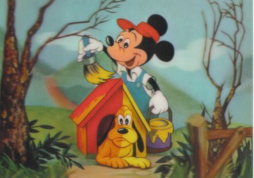 Disney Mickey & Pluto with dog house  WDP 3d Print