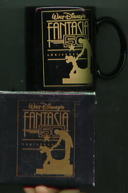 Disney Mickey Fantasia 50th Anniversary Porcelain mug