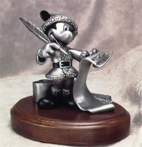 Disney Mickey Mouse  Pewter Checking it Twice Figurine