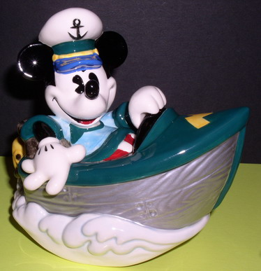 Disney Mickey Mouse Boat Music Box Moveable
