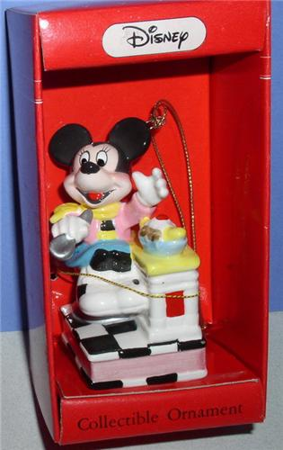 Disney Mickey Mouse ice cream Schmid Porcelain Ornament