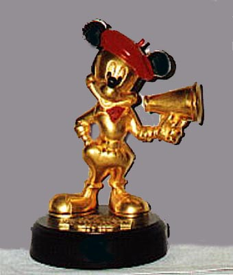 Disney Mickey Mouse in Gold Hollywood Pewter