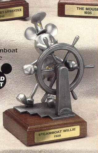 Disney Mickey Mouse Steamboat Willie Pewter