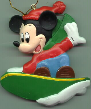 Disney Mickey Mouse Surfing ornament Rare