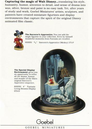 Disney Mickey Sorcerer Goebel Miniatures Brochure