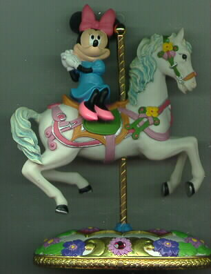 Disney Minnie Mouse on a Carousel Horse Figurine