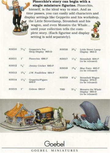 Disney Pinocchio Goebel Miniatures Brochure