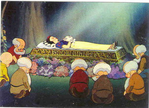 Disney Snow White &  7 Dwarfs in death