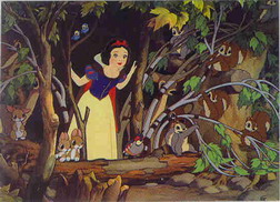 Disney Snow White & 7 Dwarfs w/ animals  in Forest