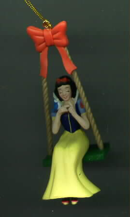 Disney Snow White Swinging It in Mint Figurine Ornament