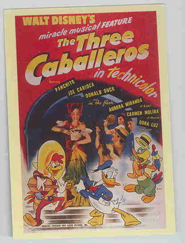 Disney Three Caballeros with  Daisy Duck poster