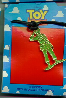 Disney Toy Story 1 Green Army Man Necklace Cheap