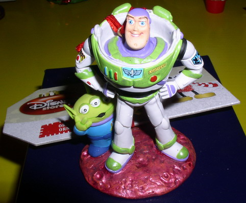 Disney Toy Story Buzz with Alien Ornament Figurine